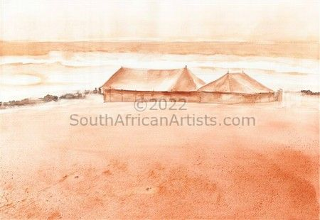 """African Beach Scape"""