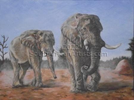 """Elephants walking"""