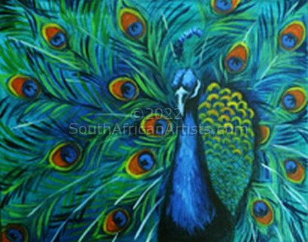 """Captivating Blue Peacock"""
