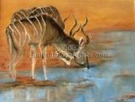 """Kudu at Waterhole"""