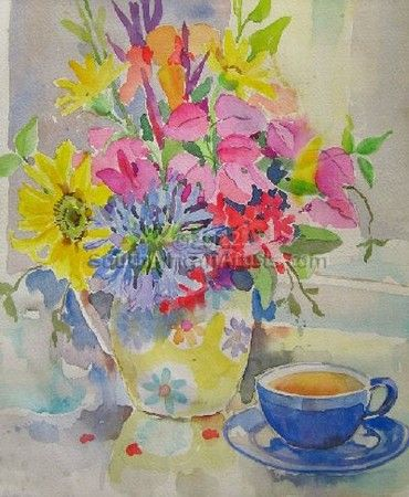 """Vase With Teacup"""