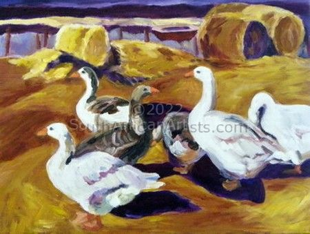 """Geese and Haystacks"""
