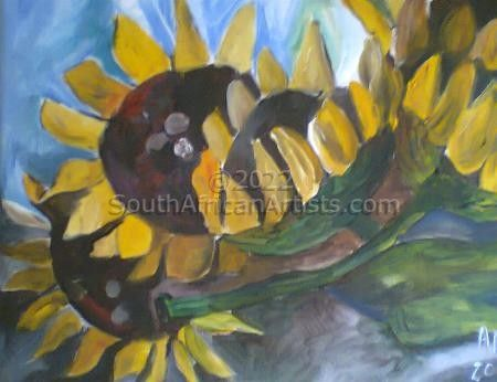 """Sunflowers on Canvas"""
