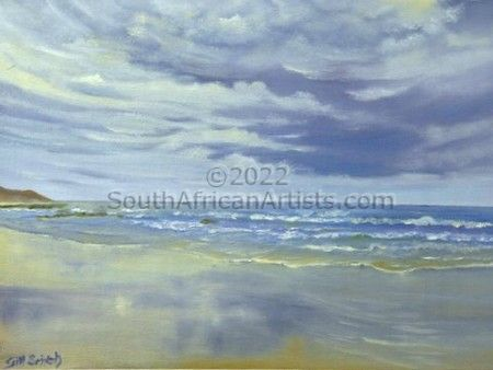 """Stormy Sky over the Sea"""