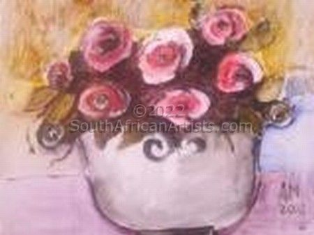 """Small Roses in a Bucket"""