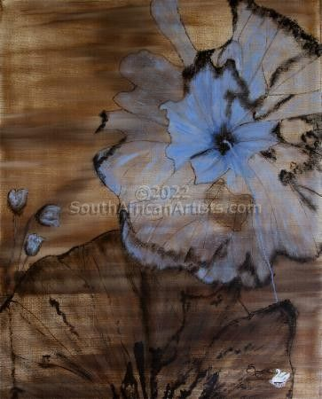 """Abstract Blue Flower"""