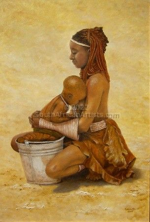 """Himba Woman With Child"""