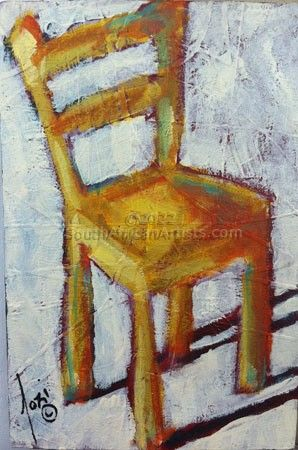 """Yellow Chair with White Background"""