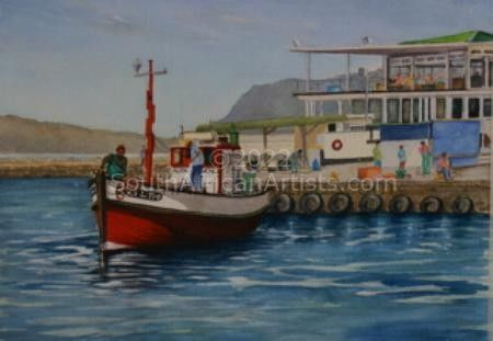 """A Sunny Day at Kalk Bay Harbour"""