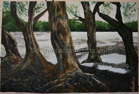 """Trees in River"""