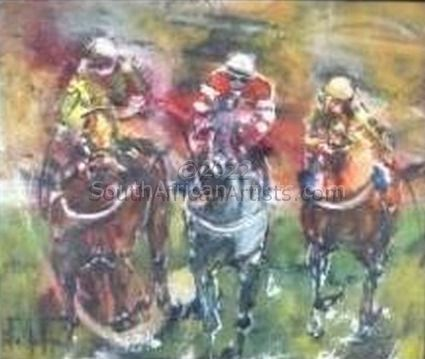 """Horse Painting Racing"""