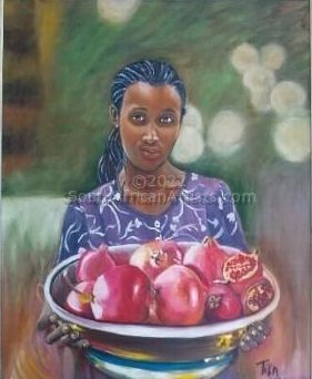"""Woman With Pomegranates"""
