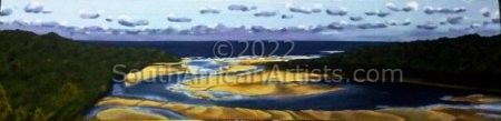 """Nahoon River mouth- low tide"""