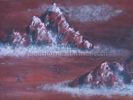 """Mountain in Red"""