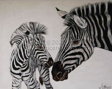 """Mother and Punk Zebra"""