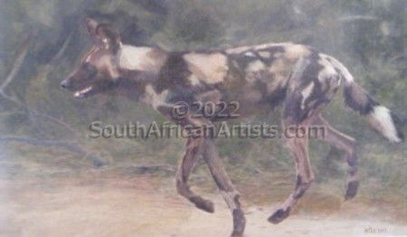 """African Wild Dog Trotting"""