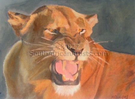 """Lioness Growling"""