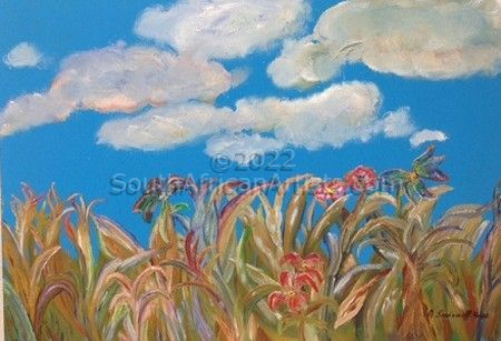 """Grasses, Flowers and Sky"""