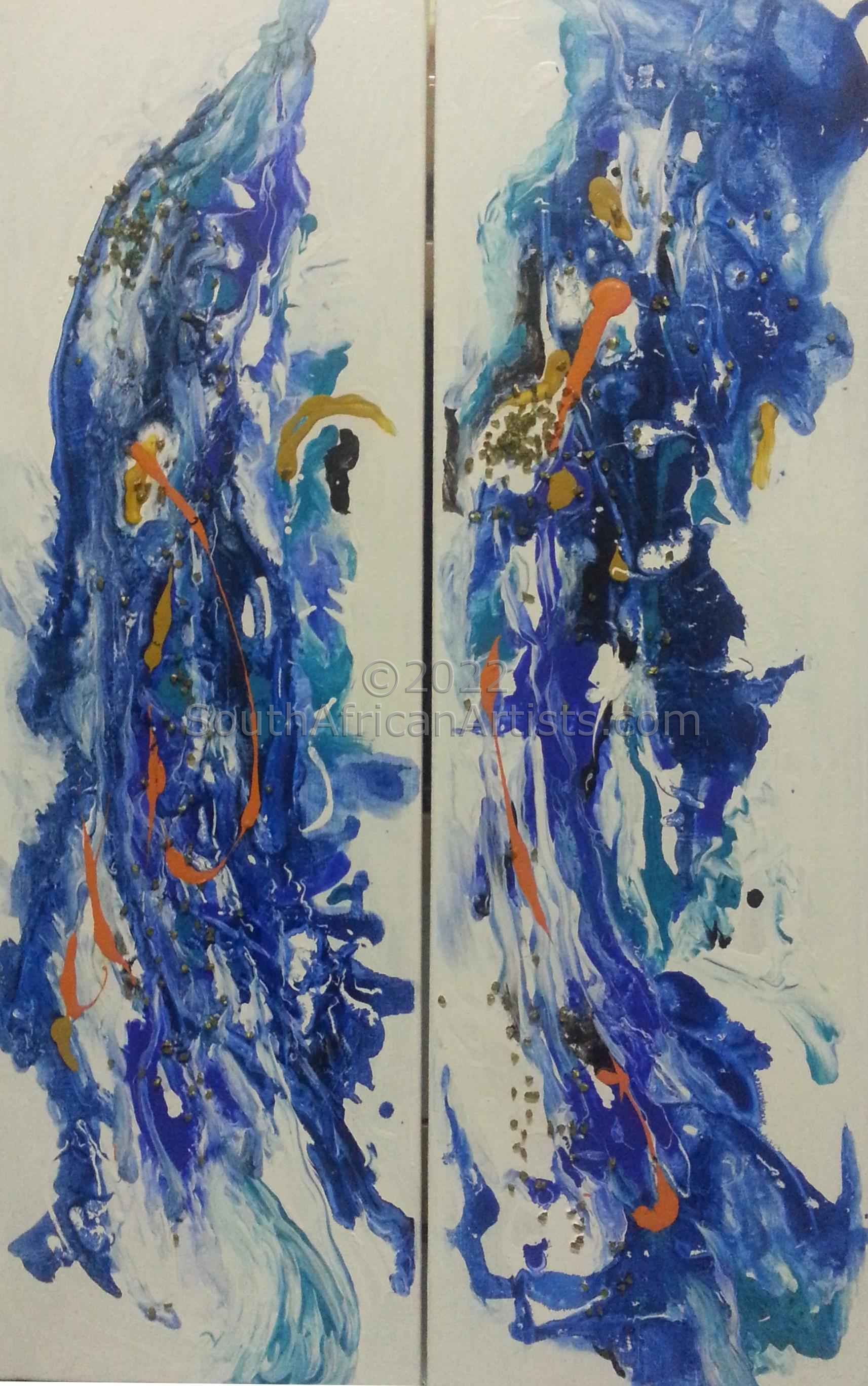 """Ocean Abstract nr 5 & 6 (set of 2)"""