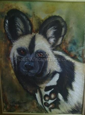 """Portrait of a Painted Dog"""