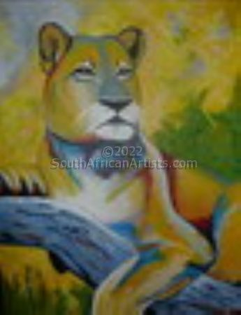 """Lioness in a Tree"""