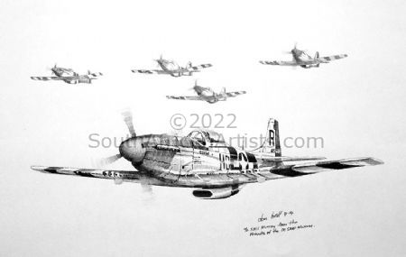"""P-51 North American Mustang Squadron"""