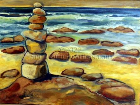 """Rock Stack at the Sea in Cape St Francis"""