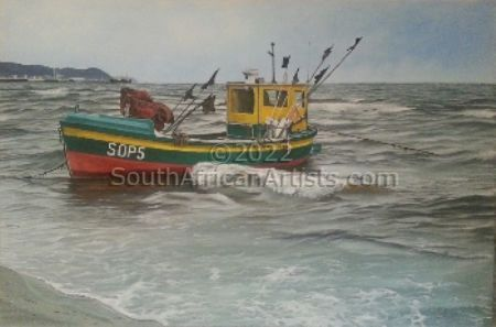 """Fishing Boat Waiting"""