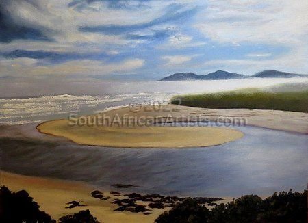 """Misty Seascape With Lagoon"""