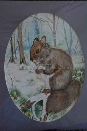 """Woodland Squirrel in Winter"""