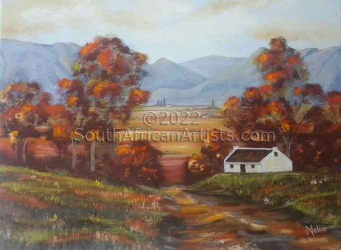 """Cape Valley With Road in the Autumn"""