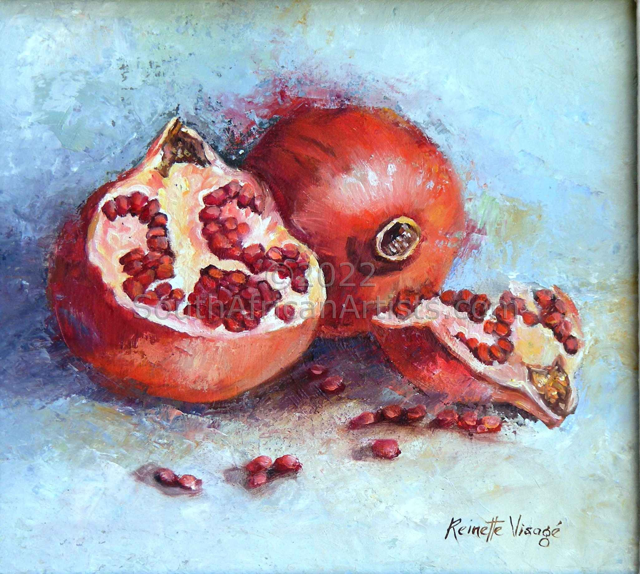 """Pomegranate Plus Halves"""