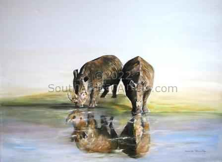 """Rhino Reflections"""