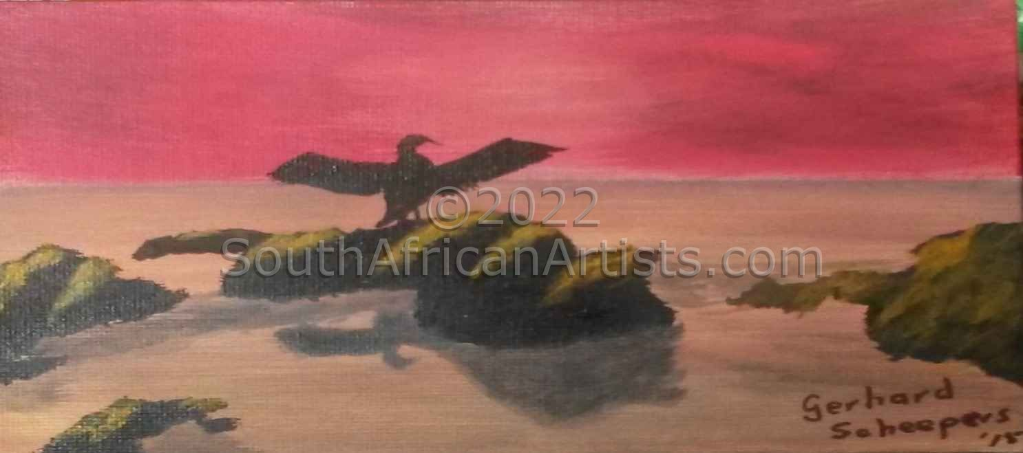 """Cormorant Drying Its Wings 1"""