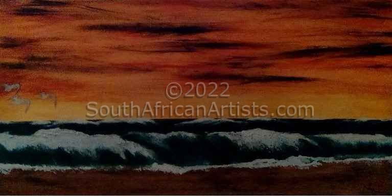 """Waves at Sunset"""