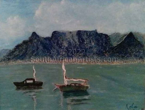 """Boats in Table Bay"""