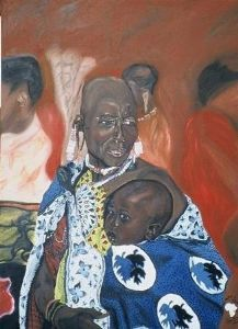 """Maasai Mother & Child"""
